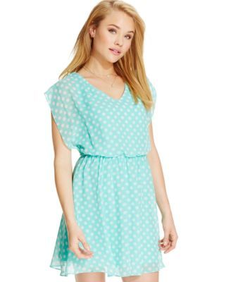 BCX Juniors' Polka-Dot-Print Dress
