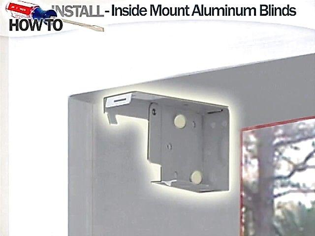 How To Install Aluminum Blinds Video Inside Mount Blinds Com Diy Image