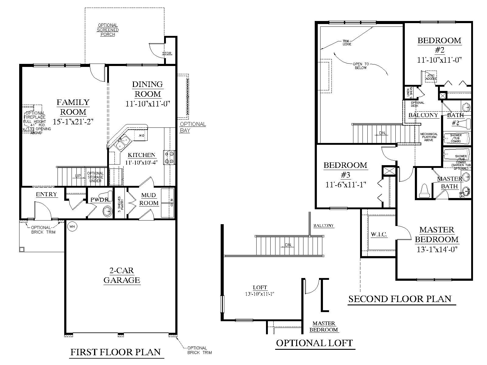 House Plan 1600 Walterboro floor plan 1600 Square Feet
