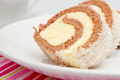 Receta de Brazo de Gitano con Crema Pastelera y Coco