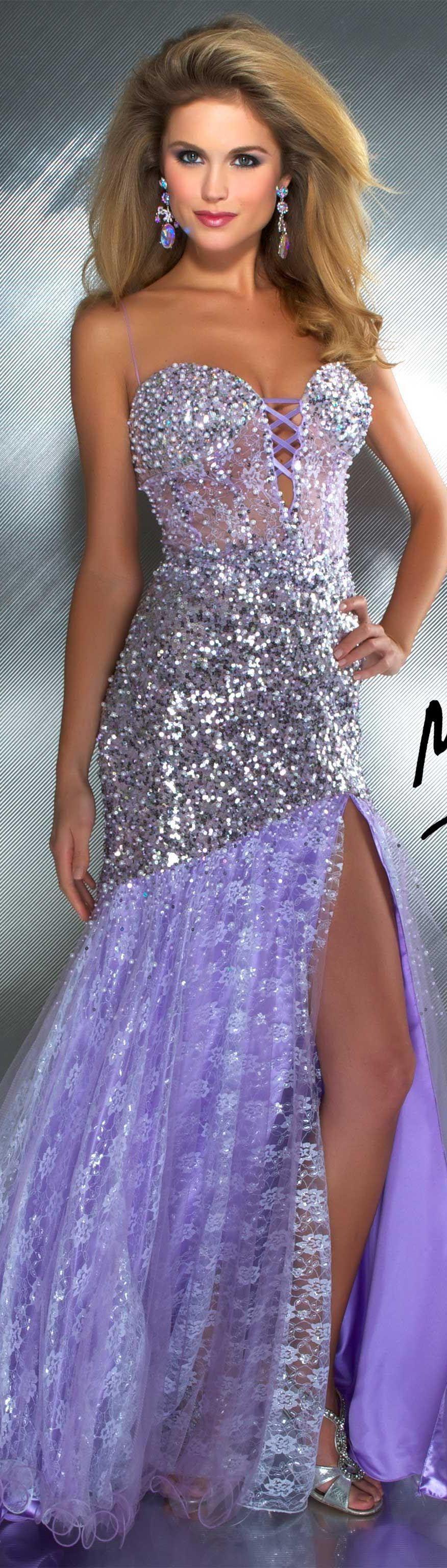 Mac duggal couture dress lilac long formal dress glitter mac