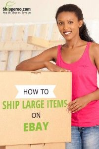 How to ship large items on eBay.