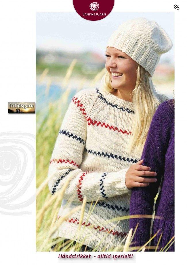 Pippigenser Til Voksen Oppskrifter Sandnes Garn Knitting And