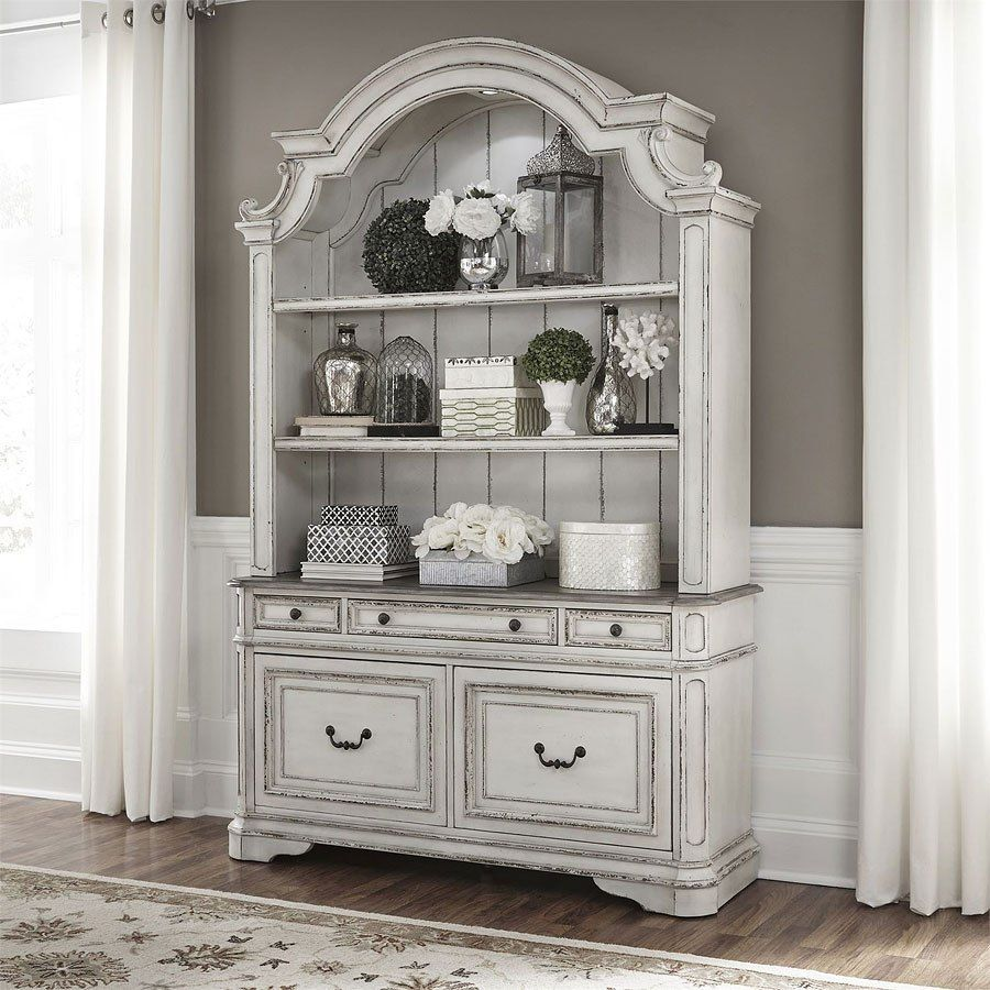 Magnolia Manor Credenza W/ Hutch In 2019