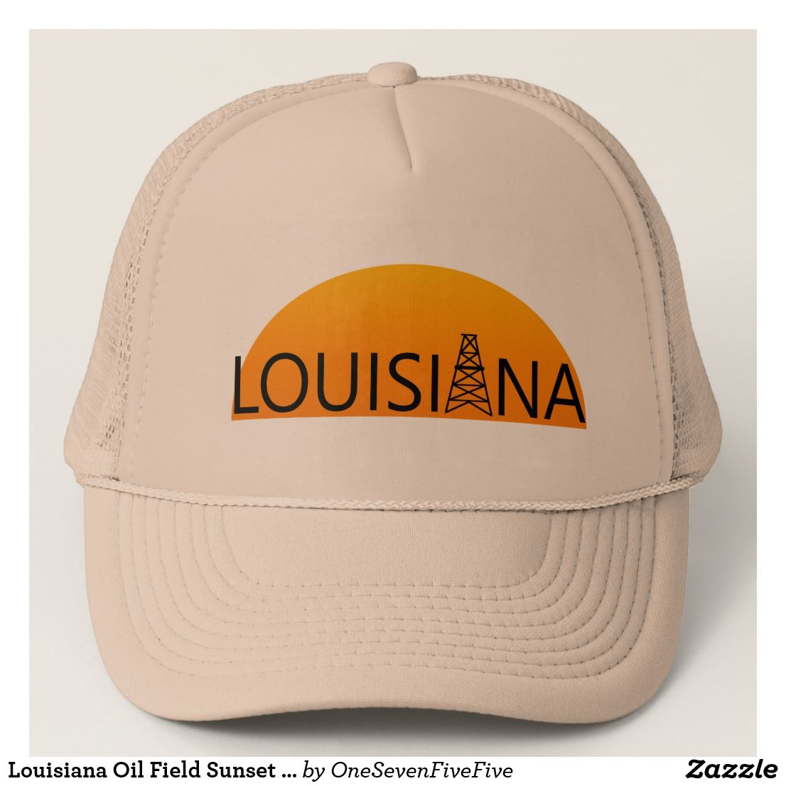 1fa3258237b Louisiana Oil Field Sunset Trucker Hat The oil field is an important part  of Louisiana s economy. Support the oil field workers among your friends  and ...
