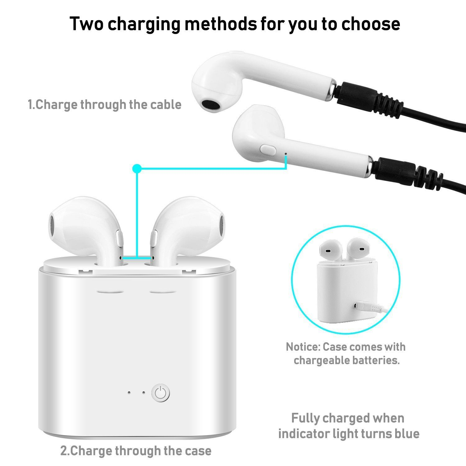 Easy To Pair With Most Bluetooth Enabled Devices Such As Iphone 6 6s 6s Plus 7 7 Plus Samsung S7 Ipad Kindle E Wireless Headset Bluetooth Earbuds Earbuds