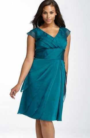 Adriana Papell Iridescent Chiffon Petal Gown...this is what to wear ...