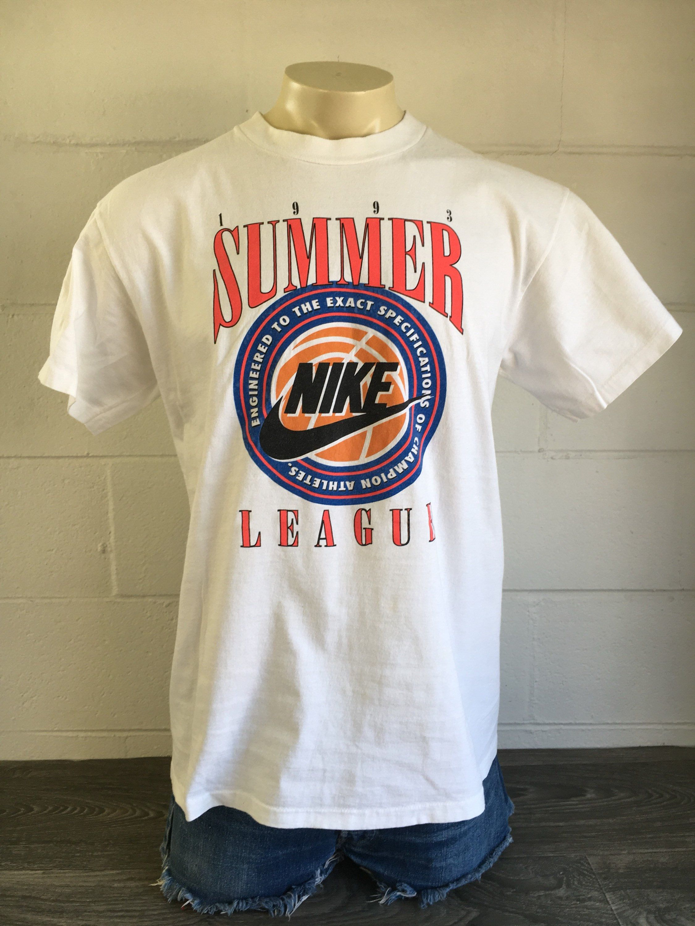 Vintage Nike Shirt 1993 Summer League Volley Ball Grey Tag Personalized T Shirts Vintage College Sweatshirts Shirts
