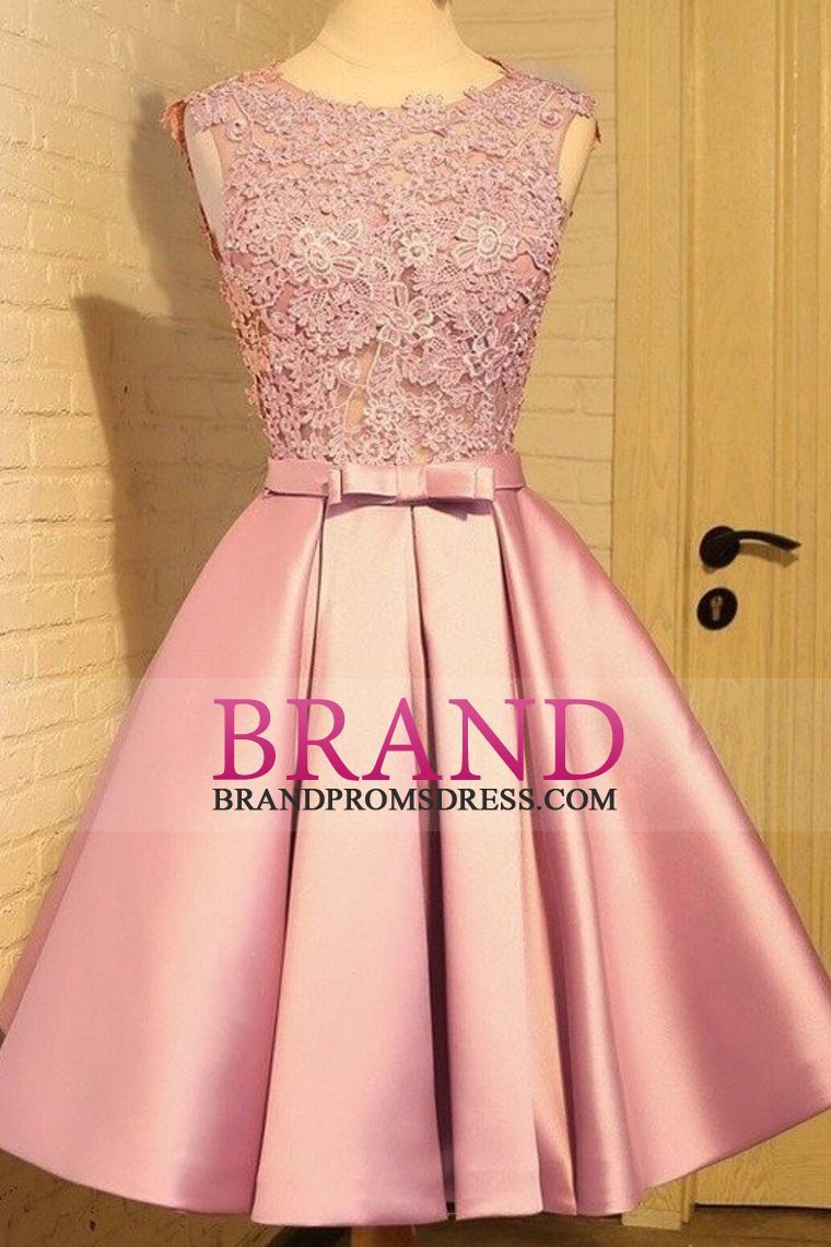 prom dresses aline shortmini satin sleeves zipper back