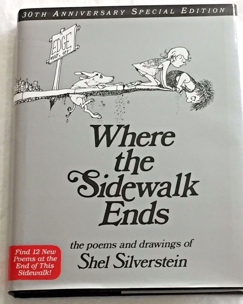 Shel silverstein where the sidewalk ends hardcover book w dj 30 shel silverstein where the sidewalk ends hardcover book w dj 30 anniversary ed fandeluxe Choice Image