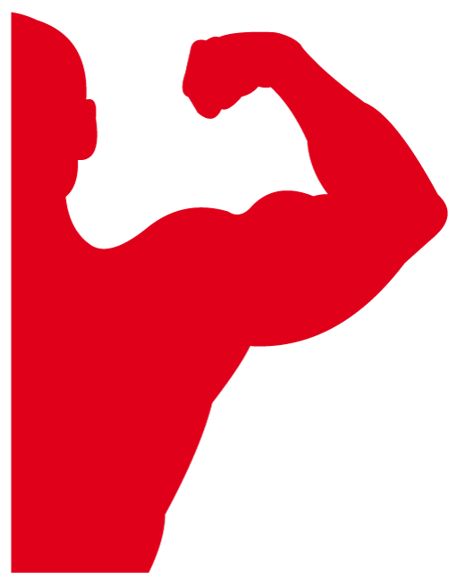Vector Strong Man Seems To Be A Bodybuilder Strained Biceps Looks Rather Attractive Http All Vectors Com Gallery Man Vector Power To The People Silhouette