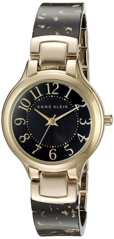... Michael Kors Kello ja paljon muuta! Anne Klein Women s AK 2380BKGB Easy  To Read Gold-Tone and Black Resin Bangle 32e5a83602