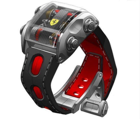 Ferrari Goes Wild With Scuderia One Watch Designbuzz Ferrari Watch Cool Watches Futuristic Watches