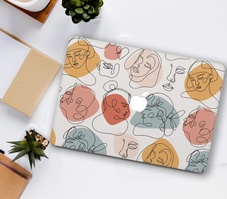 Art Macbook case Abstract Girls Macbook Pro 13 16