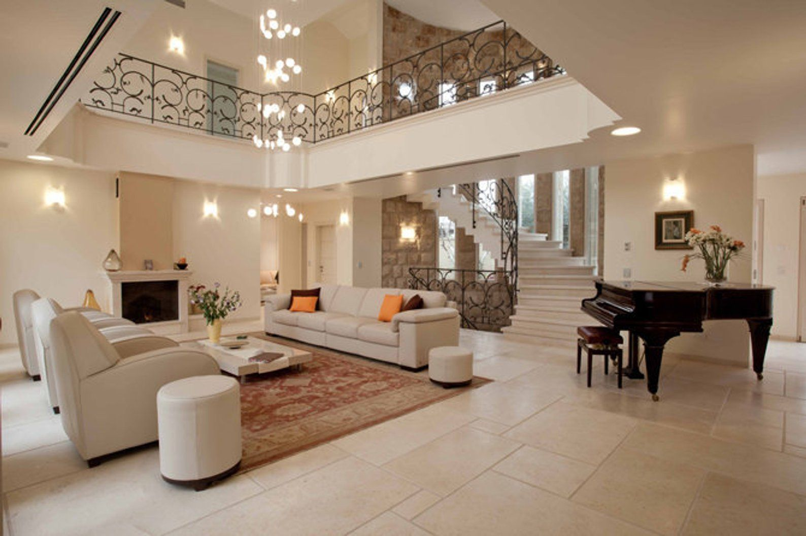 Modern two story foyer stairase chandelier |REEF | Classic ...