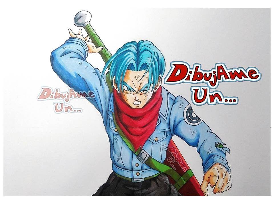 Como dibujar a TRUNKS del futuro DRAGON BALL SUPER How to draw