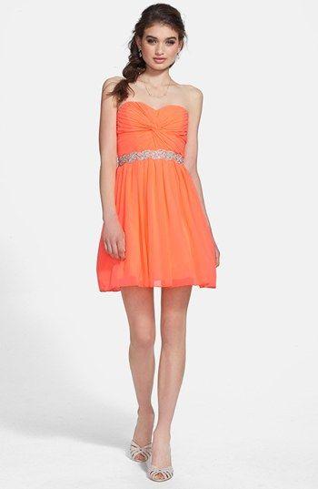 Semi Formal Dress For Belle Way In Strapless Twist Front Chiffon