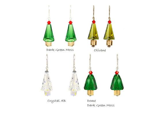 Earrings - Very impressive design of earrings made with SWAROVSKI ELEMENTS and 925 Sterling Silver .  Total length of the earrings: 37 mm.    https://www.etsy.com/listing/211347867/sterling-silver-swarovski-tree-earrings?ref=shop_home_active_9
