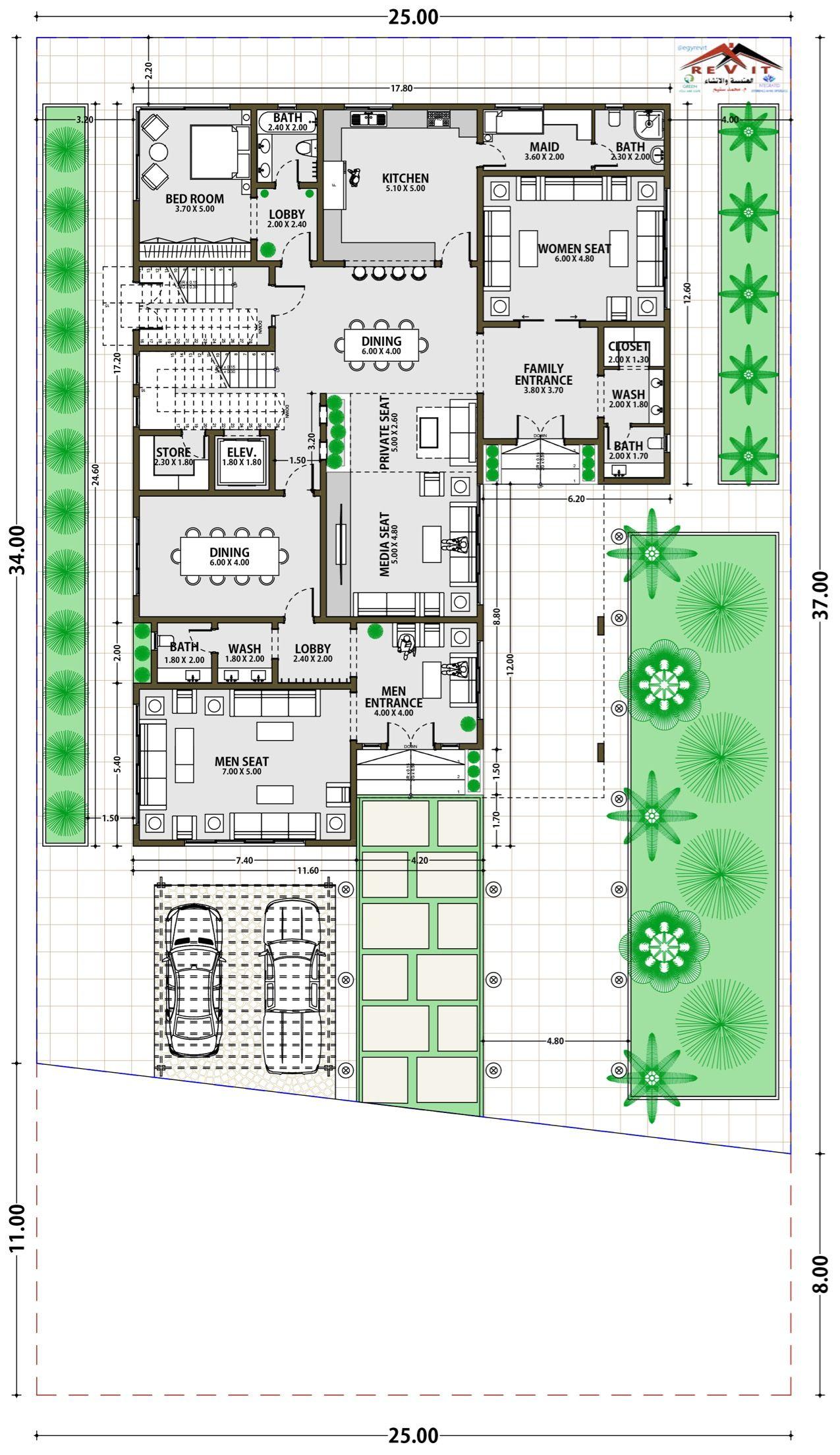 تصميم فيلا مودرن ايجي ريفت Twitter Egyrevit Architectural House Plans Courtyard House Plans Home Design Floor Plans