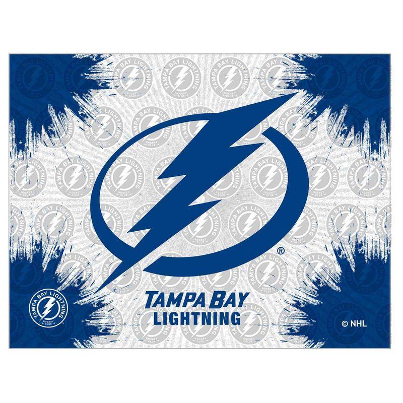 Tampa Bay Lightning 15 X 20 Printed Canvas Art In 2020 Tampa Bay Lightning Stretched Canvas Wall Art Tampa Bay