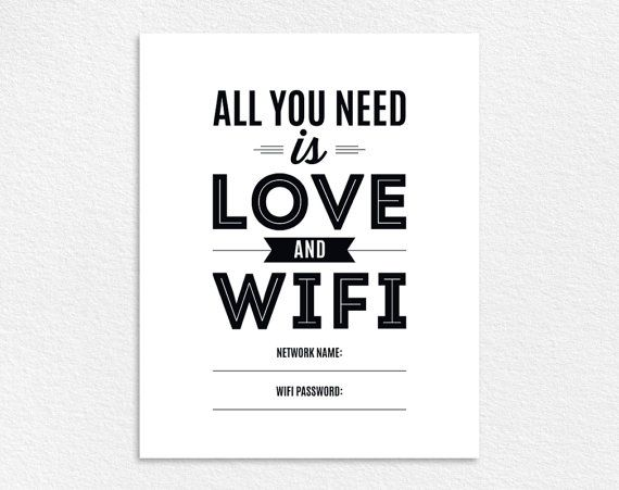 WIFI Password Sign, Wifi password printable, All You Need