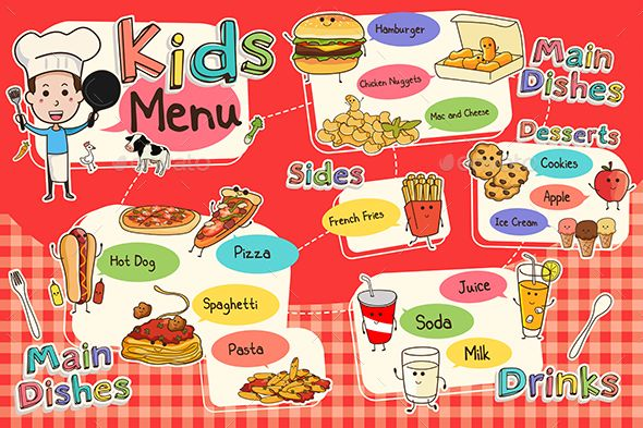 Kids Meal Menu Graphicriver Teaching Resources Numeracy In 2019