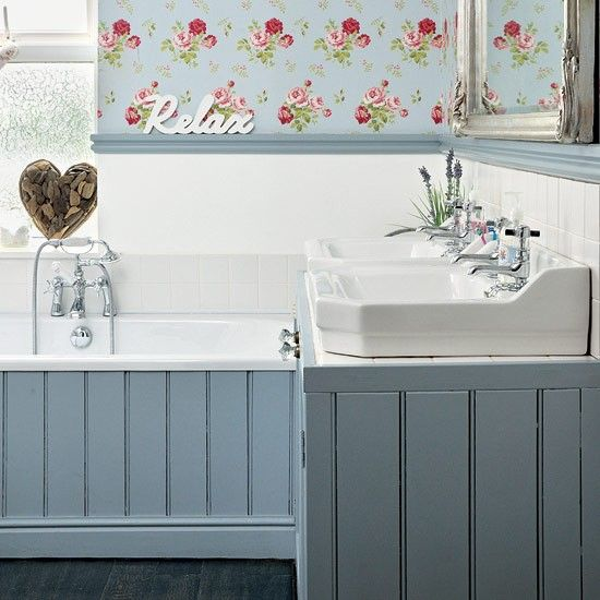 How To Transform Your Walls With Panelling Diy Ideal Home Easy Bathroom Decorating Shabby Chic Bathroom Floral Bathroom
