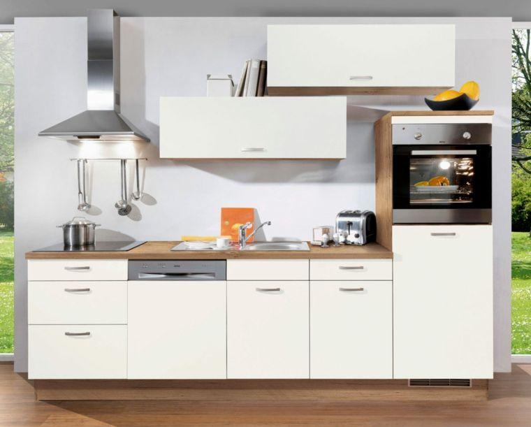 Contemporaneo mobili ~ Cucina bianca stile contemporaneo mobili arredare spazio ridotto
