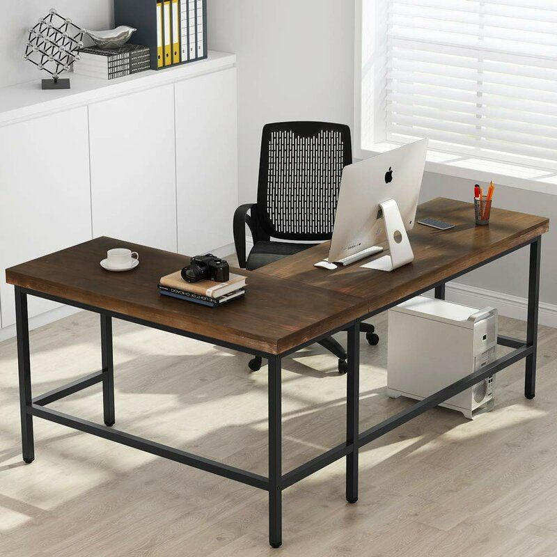 Marcum Solid Wood L Shape Desk L Shaped Desk Solid Wood Writing Desk Solid Wood Desk