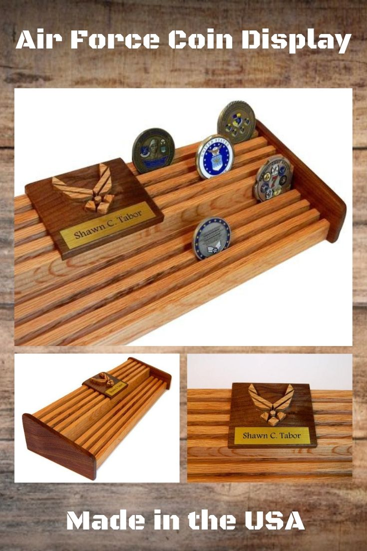 60 Challenge Coin Display, Air Force Military Coin Holder