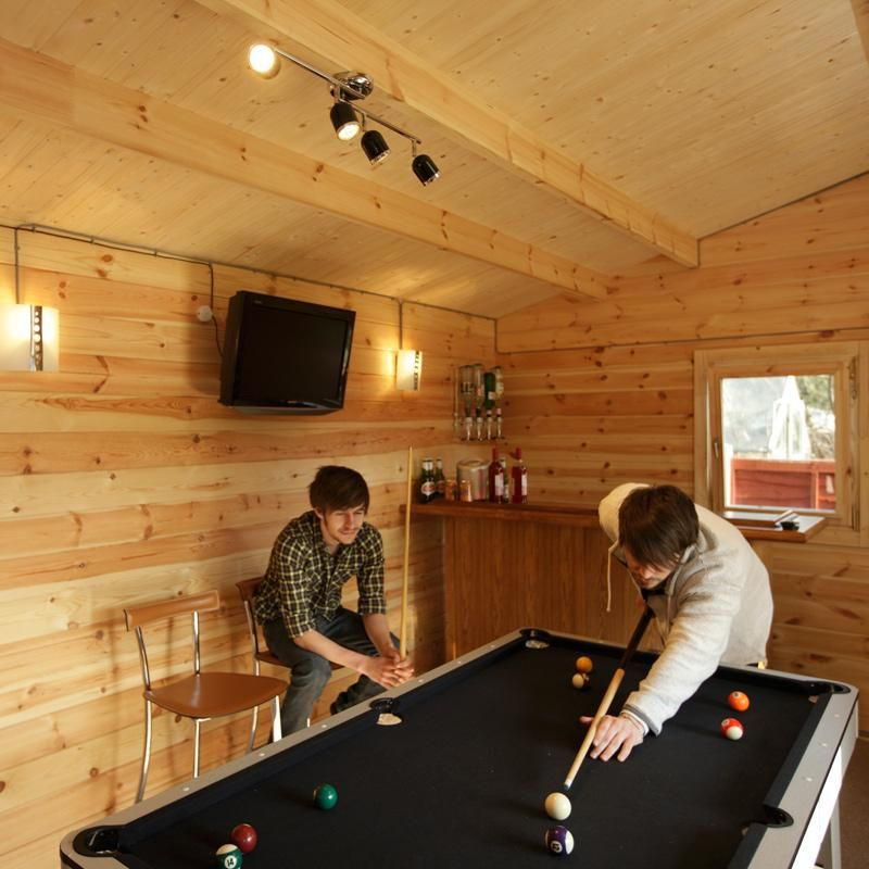 Inside Our X M Augusta Log Cabin Literally Big Enough To House A - Big 5 pool table