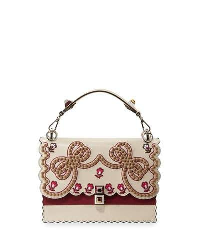 b7187628af Kan I Medium Bow Embroidered Shoulder Bag | Products | Bags ...