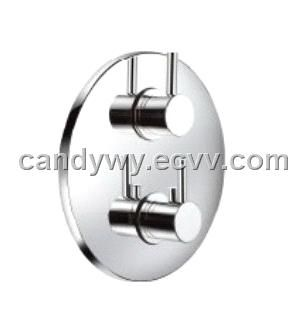 Round Concealed Thermostatic Shower Valve With 3 Way Diverter (TLL9420)    China Shower Mixer