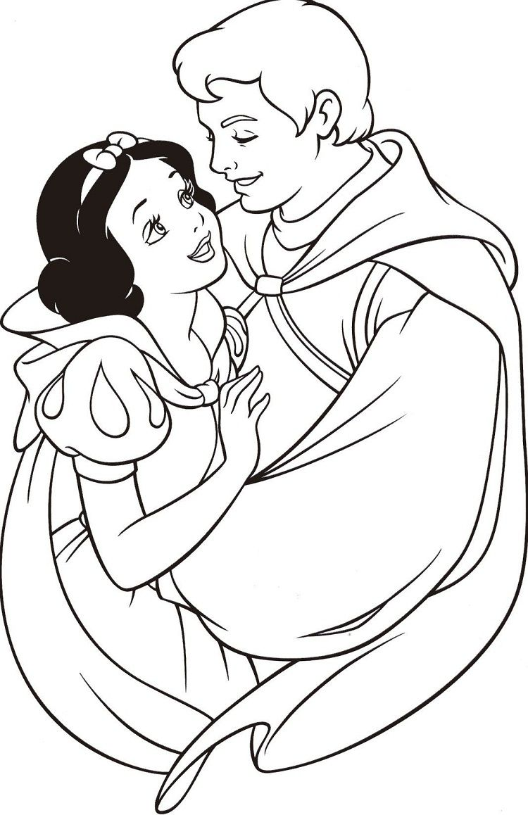 Snow White And Prince Coloring Pages Snow White Coloring Pages