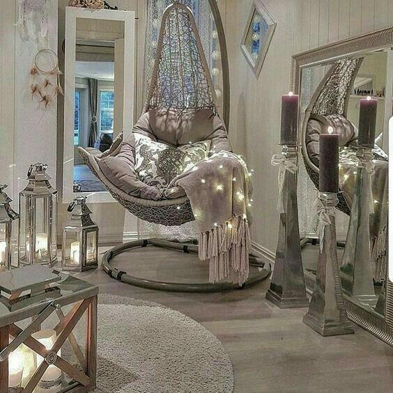 Luxuryzen luxuryzenlivingrooms dream home home decor - Hanging chair living room ...