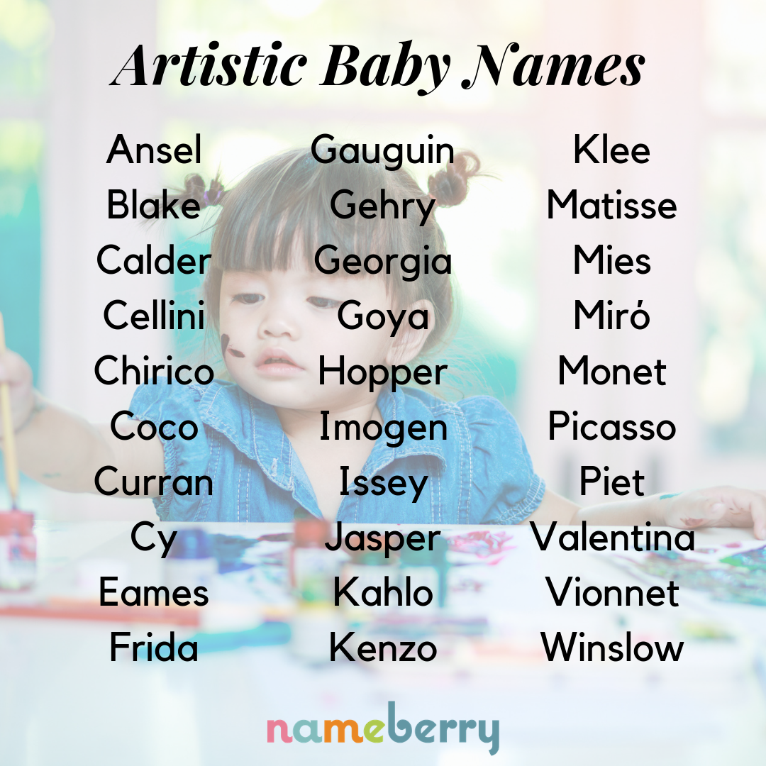 135 Artistic Baby Names