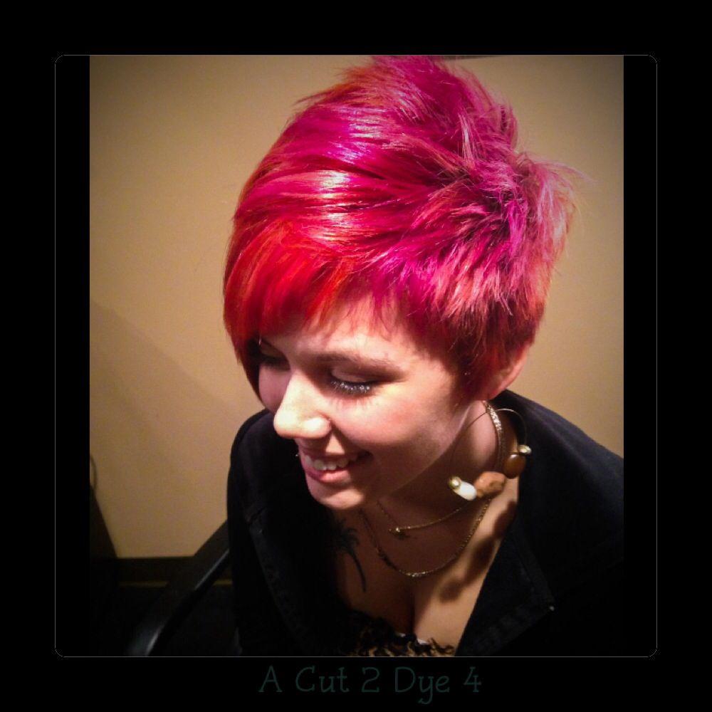 A cut dye beavercreek ohio sunsetinspired color bright pink