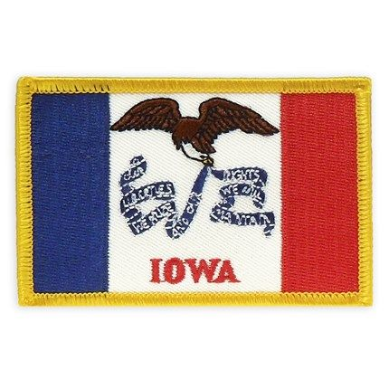 Patch Iowa State Flag With Images State Flags Embroidered
