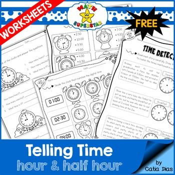 FREE sample of  - time worksheets
