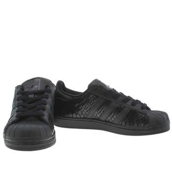 Womens Black Adidas Superstar Snake Trainers | schuh