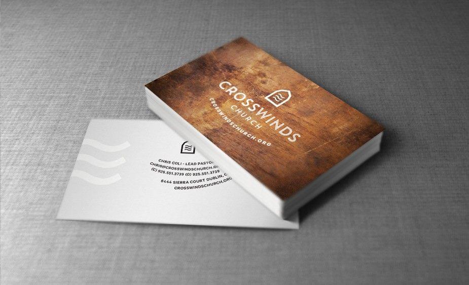 Nuu Church Media | CrossWinds Church business cards | Religious ...