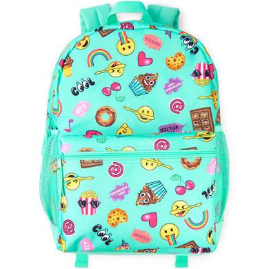 e7028250aae4 The Children s Place Girls Emoji Print Backpack - Green - One Size ...