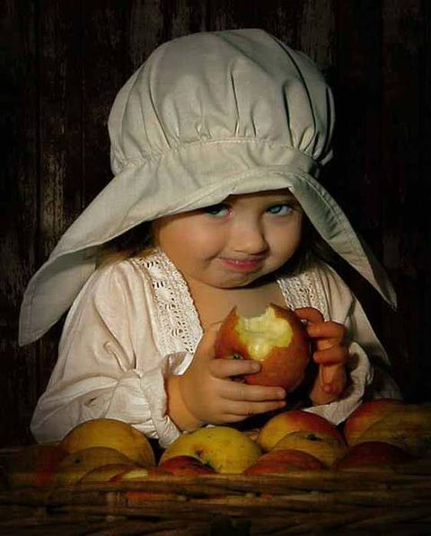 Smile for me! An apple a day......