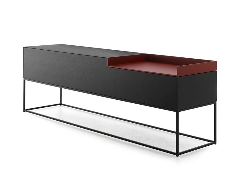 lacquered mdf sideboard inmotion collection by mdf italia design neuland industriaedesign. Black Bedroom Furniture Sets. Home Design Ideas
