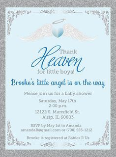 Thank heaven for little boys baby shower invitations unique baby thank heaven for little boys baby shower by announceitfavors filmwisefo