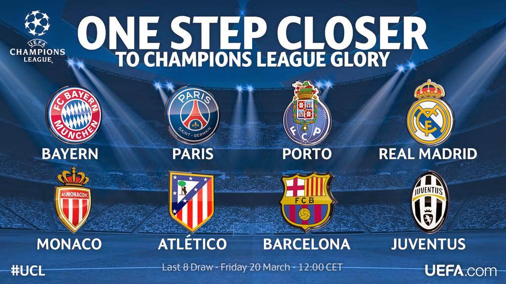 Clasificados a cuartos de final de la Champions 2014-2015 ...