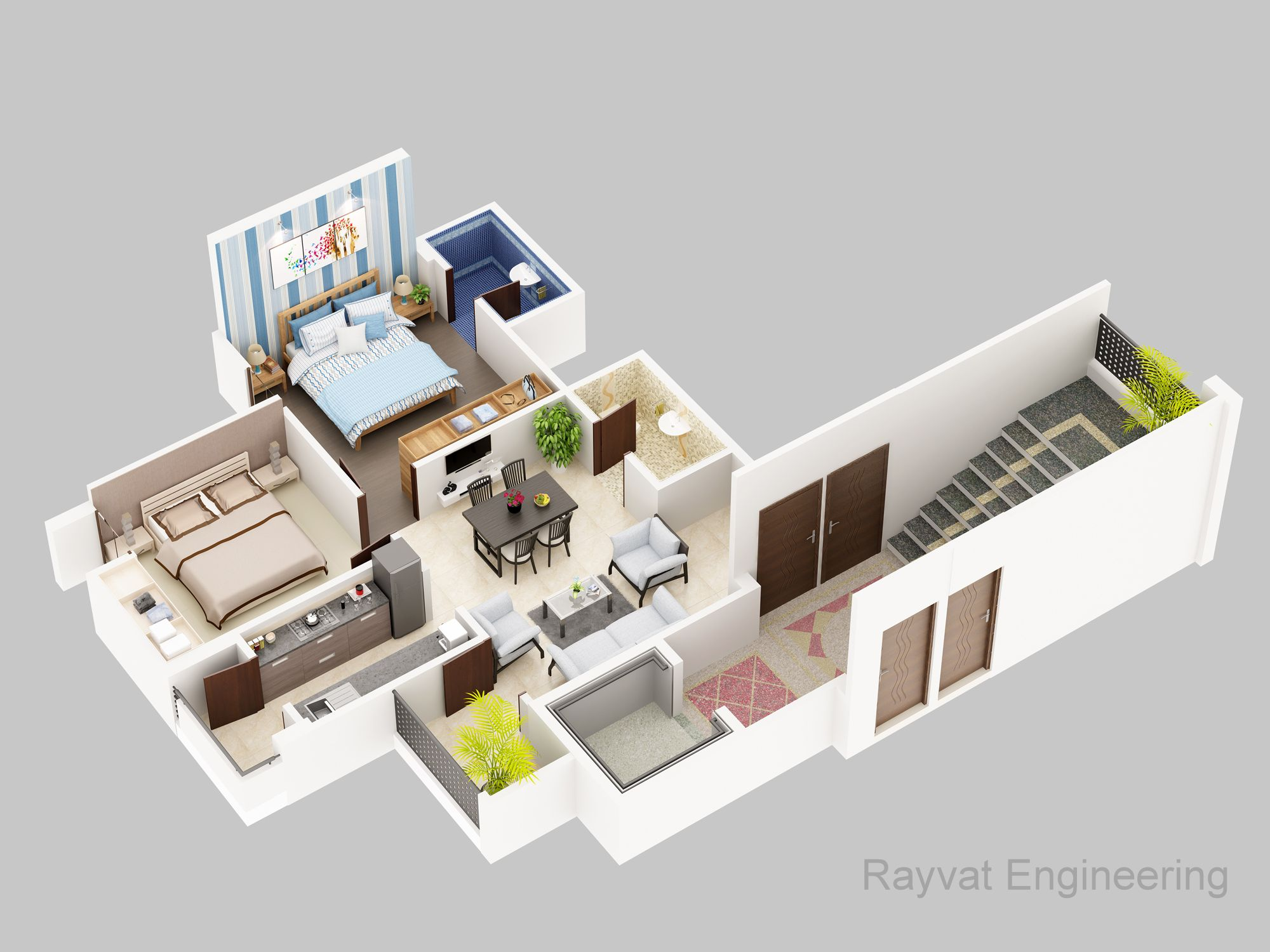 At Rayvat Group We Specialize In Creating 3d Floor Plans Designs So That You Can Showcase The Actual Designs To Yo Rendered Floor Plan Plan Design Floor Plans