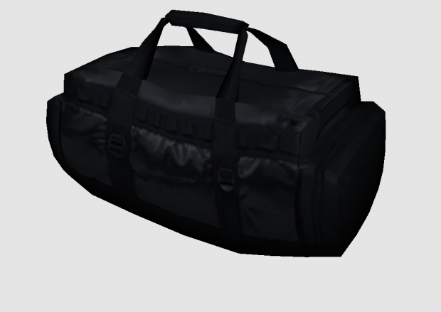 Low Poly] Black Duffle Bag 3d model free | One4All in 2019