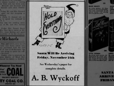 Santa Arrives - A. B. Wyckoff - 1950