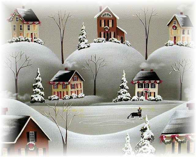 Catherine Holman art | Catherine Holman Folk Art | *CHRISTMAS ART* | Pinterest